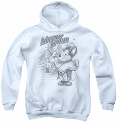 Mighty Mouse youth teen hoodie Protect And Serve white