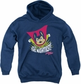 Mighty Mouse youth teen hoodie The Mightiest navy