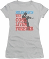 Miles Davis juniors t-shirt Cool Lives silver