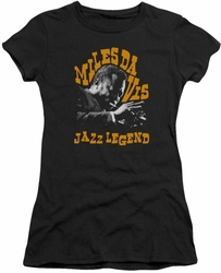 Miles Davis juniors t-shirt Jazz Legend black