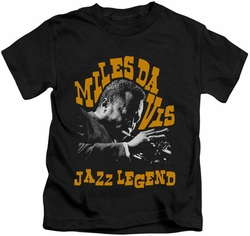 Miles Davis kids t-shirt Jazz Legend black