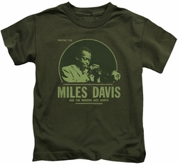 Miles Davis kids t-shirt The Green Miles military green