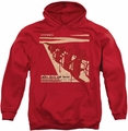 Miles Davis pull-over hoodie Davis And Horn adult red