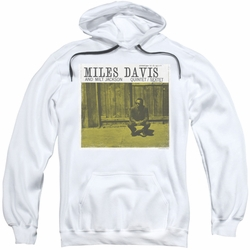 Miles Davis pull-over hoodie And Milt Jackson adult white
