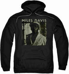 Miles Davis pull-over hoodie Portrait adult black