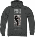 Miles Davis pull-over hoodie Silhouette adult charcoal