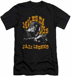 Miles Davis slim-fit t-shirt Jazz Legend mens black