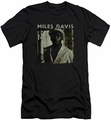 Miles Davis slim-fit t-shirt Miles Portrait mens black