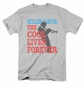 Miles Davis t-shirt Cool Lives mens silver