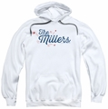 Millers pull-over hoodie Logo adult white