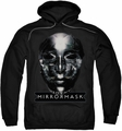 Mirrormask pull-over hoodie Mask adult black