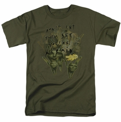 Mirrormask t-shirt Don't Let Them mens military green