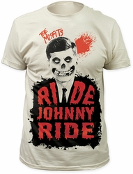 Misfits t-shirt Ride Johnny Ride Soft Fitted 30/1 mens white pre-order