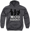 Mod Squad youth teen hoodie Mod Squad Run Simple charcoal