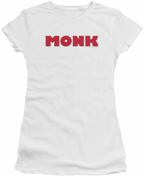 Monk juniors t-shirt Logo white