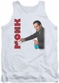 Monk tank top Clean Up mens white