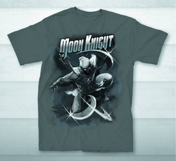 Moon Knight Weapon Throw Px Charcoal T-Shirt pre-order