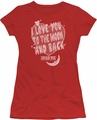 Moon Pie juniors t-shirt I Love You red