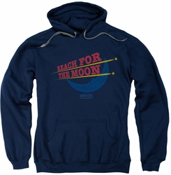 Moon Pie pull-over hoodie Reach For The Moon adult navy