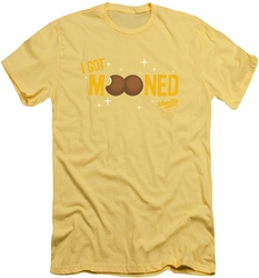 Moon Pie slim-fit t-shirt I Got Mooned mens banana