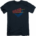 Moon Pie slim-fit t-shirt Reach For The Moon mens navy