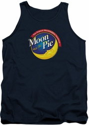 Moon Pie tank top Current Logo mens navy