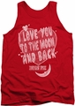 Moon Pie tank top I Love You mens red