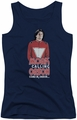 Mork & Mindy juniors tank top Come In Orson navy