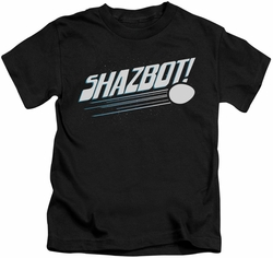 Mork & Mindy kids t-shirt Shazbot Egg black
