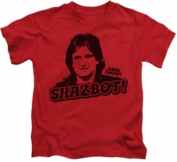Mork & Mindy kids t-shirt Shazbot red