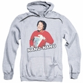 Mork & Mindy pull-over hoodie Catchphrase adult athletic heather