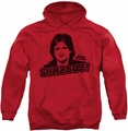 Mork & Mindy pull-over hoodie Shazbot adult red