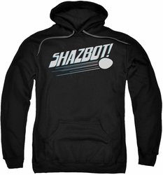 Mork & Mindy pull-over hoodie Shazbot Egg adult black