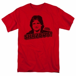 Mork & Mindy t-shirt Shazbot mens red