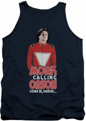 Mork & Mindy tank top Come In Orson mens navy