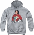 Mork & Mindy youth teen hoodie Catchphrase athletic heather