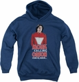 Mork & Mindy youth teen hoodie Come In Orson navy
