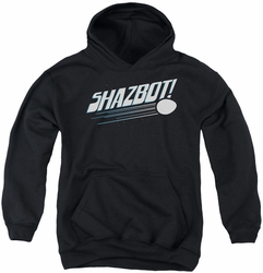 Mork & Mindy youth teen hoodie Shazbot Egg black