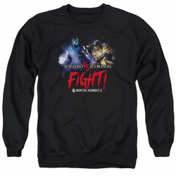 Mortal Kombat X adult crewneck sweatshirt Fight black