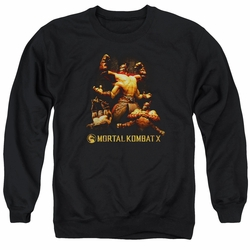Mortal Kombat X adult crewneck sweatshirt Goro black