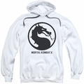 Mortal Kombat X pull-over hoodie Seal adult white