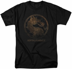 Mortal Kombat X t-shirt Metal Seal mens black