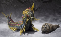 Mothra & Battra Larva figure set S.H.MonsterArts