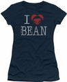 Mr Bean juniors t-shirt I Heart Mr Bean navy