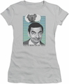 Mr Bean juniors t-shirt On My Mind silver