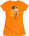 Mr Bean juniors t-shirt Respect The Teddy orange