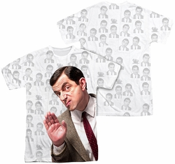 Mr Bean mens full sublimation t-shirt Close Up