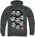 Mr Bean pull-over hoodie Heads adult charcoal