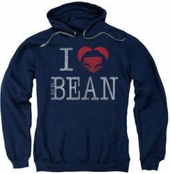 Mr Bean pull-over hoodie I Heart Mr Bean adult navy