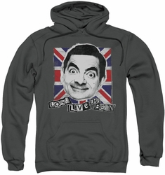 Mr Bean pull-over hoodie Long Live adult charcoal